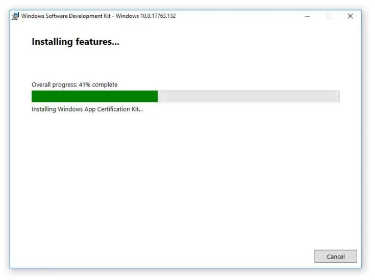 Visual Studio 2017 Installer Stuck at Win10SDK - How to fix