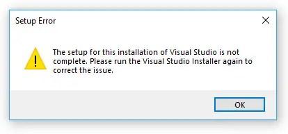visual studio installer stuck