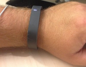 Fitbit Flex on my wrist