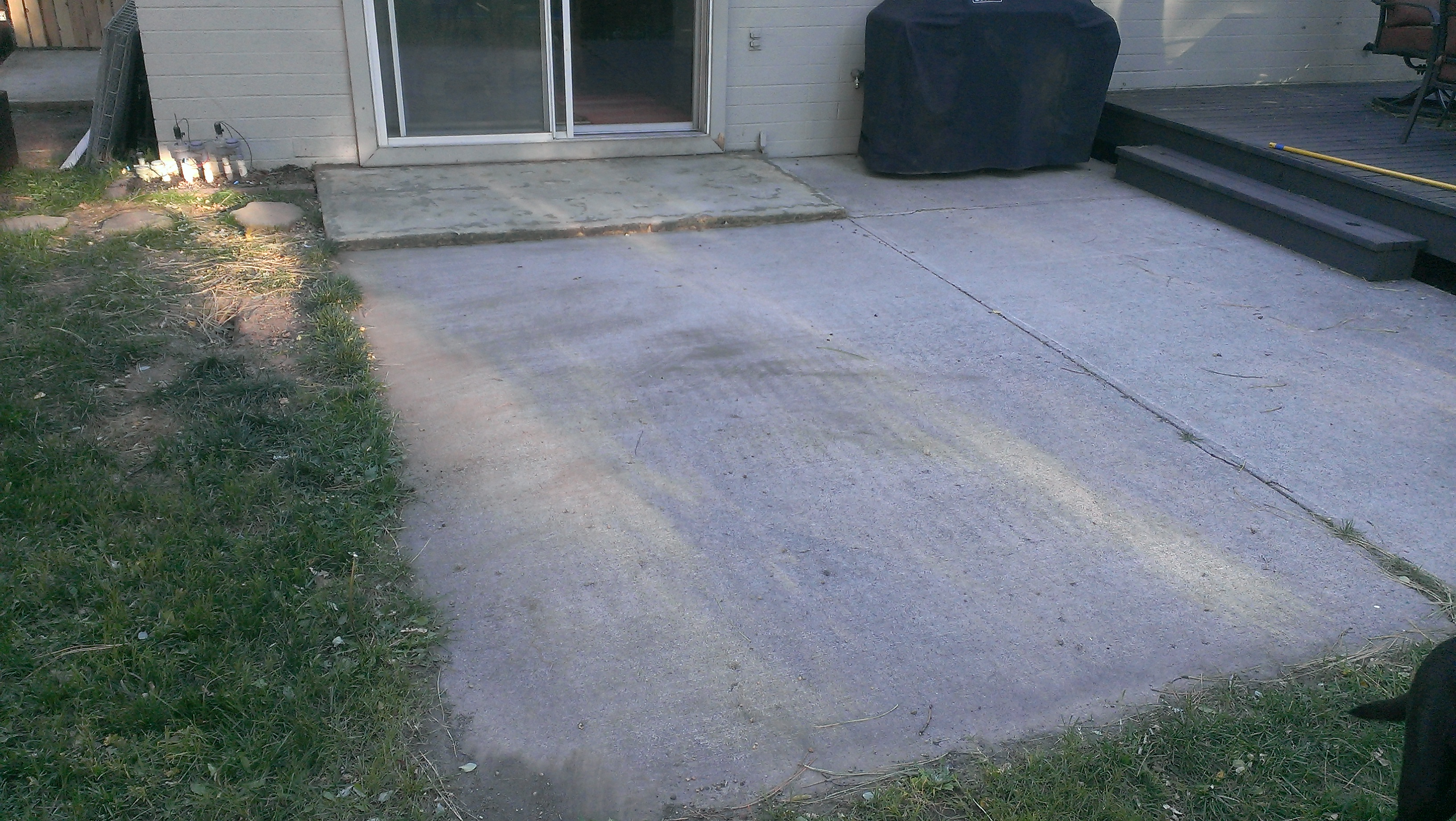 how to build a paver patio on a cement