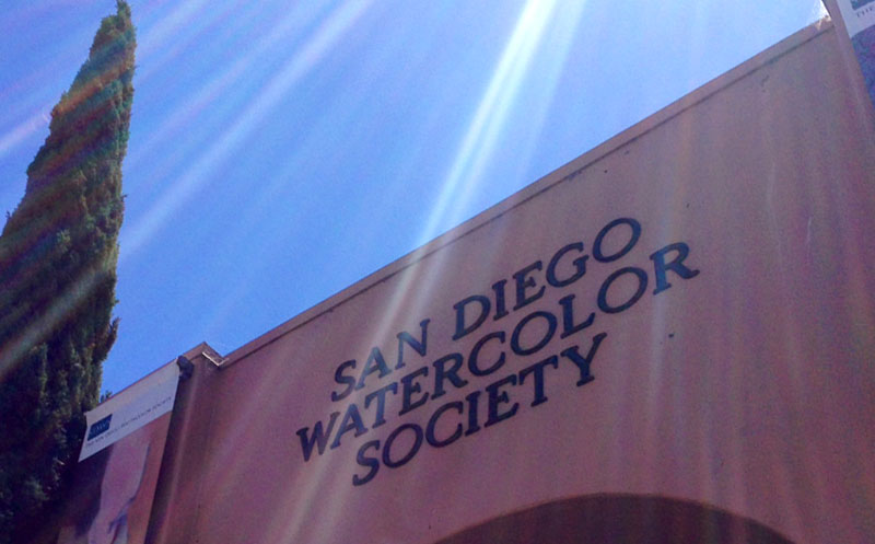 Visiting the San Diego Watercolor Society