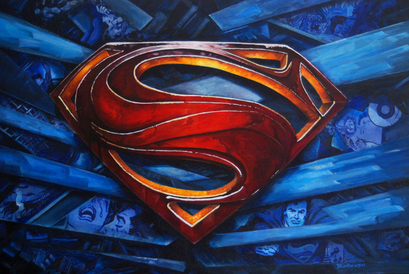 Superman painting by Ryan Burdzinski
