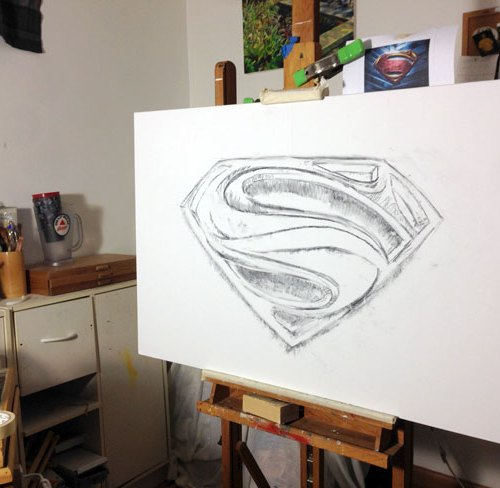 Superman Fan Art By Ryan Burdzinski