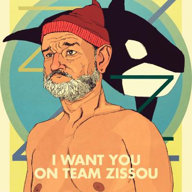 Steve Zissou Team Zissou Poster