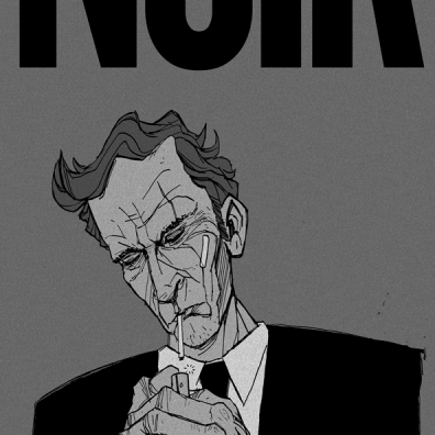 smoking noir man