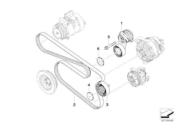 no power steering belt diagram n52