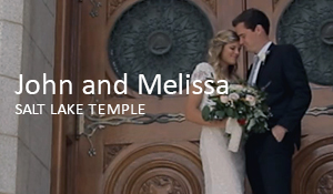 John and Melissa // Salt Lake Temple