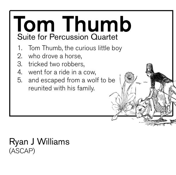 Tom Thumb Suite for Percussion Quartet (set)