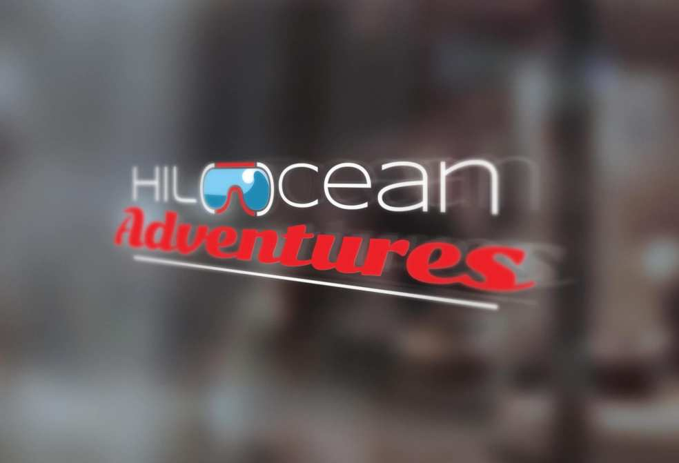 Hilo Ocean Adventures window sign