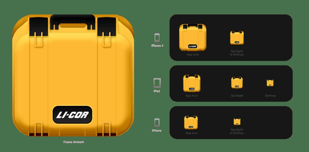 LI-COR LI-8100App iOS Icons