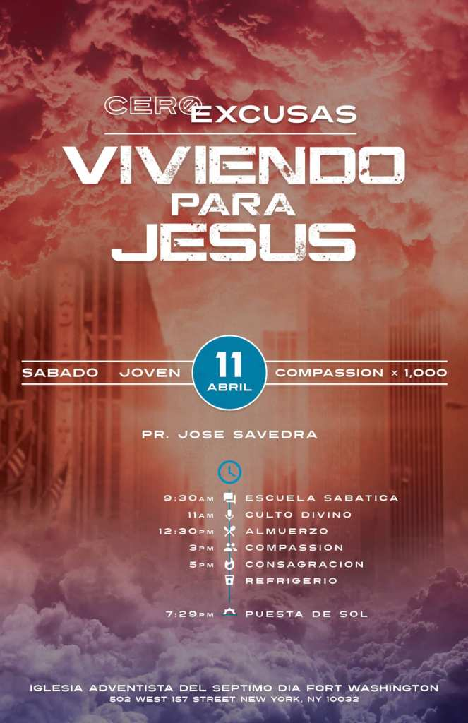 Spanish Poster - No Excuses Living for Jesus