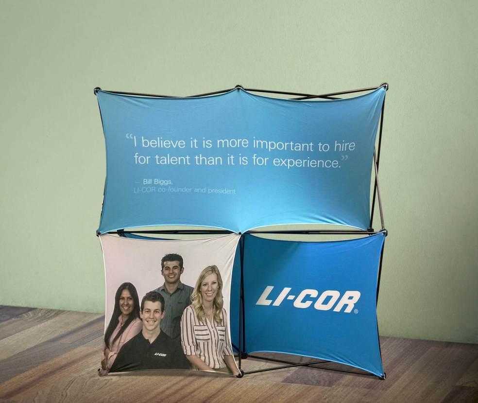 LI-COR career fair display showcase
