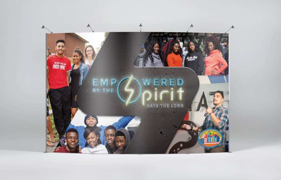 Empowered by the Spirit Stage Backdrop for Adventist Youth Ministries