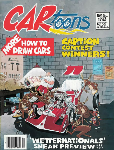 CARtoons Magazine With Cover Art From Illustrator