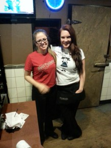 The girls at Cecil's supporting the cause and sporting the threads