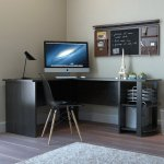 Kristen Corner L Shaped Computer Desk In Black