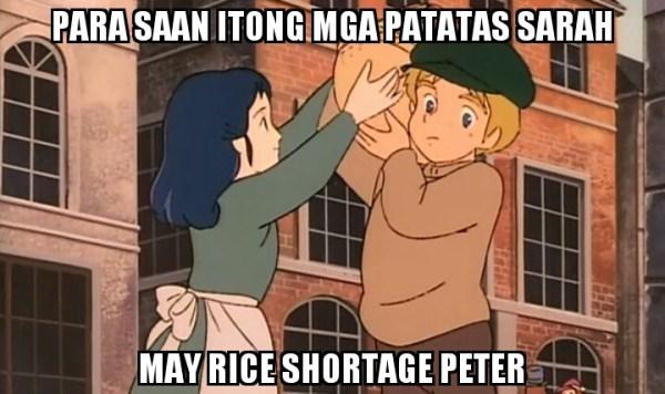 sarah rice shortage