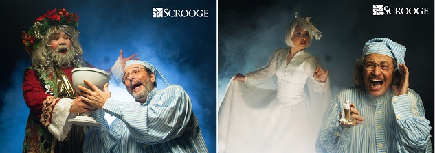 OLIVER USISON (Ghost of Christmas Present), MIGUEL FAUSTMANN (Ebenezer Scrooge)