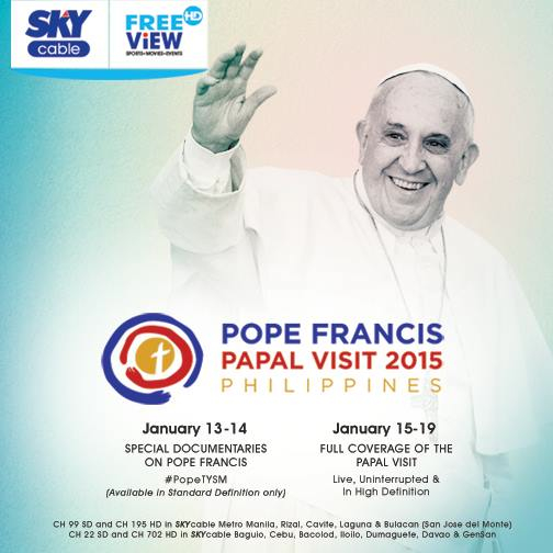 Papal Visit on SKY Free View