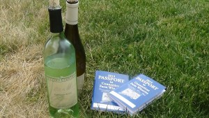 2015 Connecticut Wine Trail Passports, and bottles of Jonathan Edwards wine were part of the scenery at Jonathan Edwards Spring Fest.