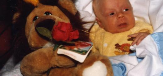 premature baby with stuffed lion