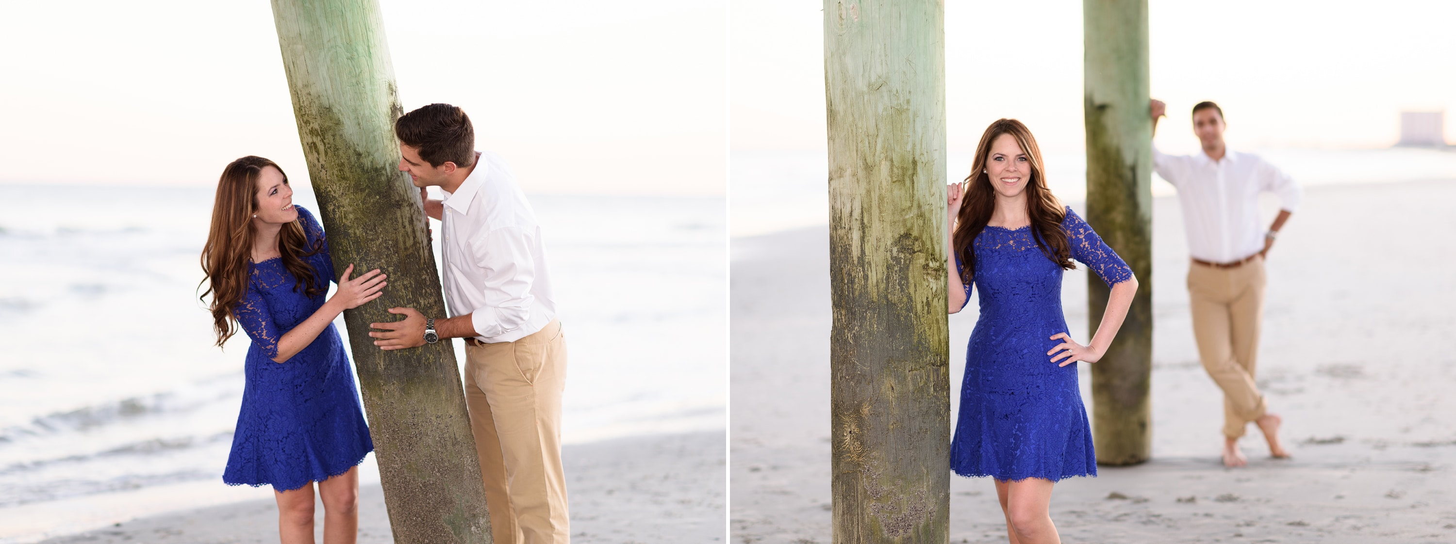 Engagement at Myrtle Beach State Park after flooding