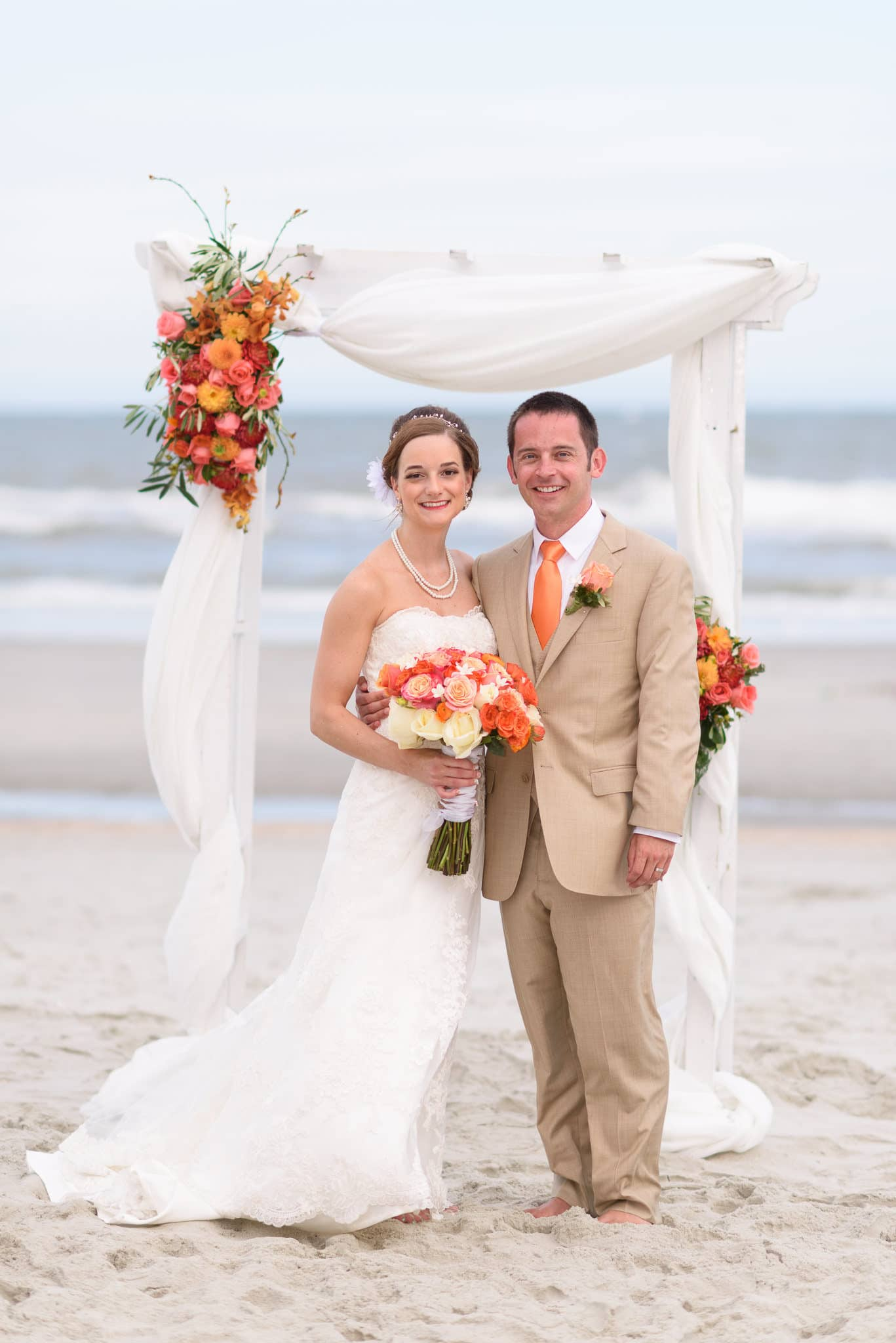 Hilton at Kingston Plantation wedding with a ceremony on the beach