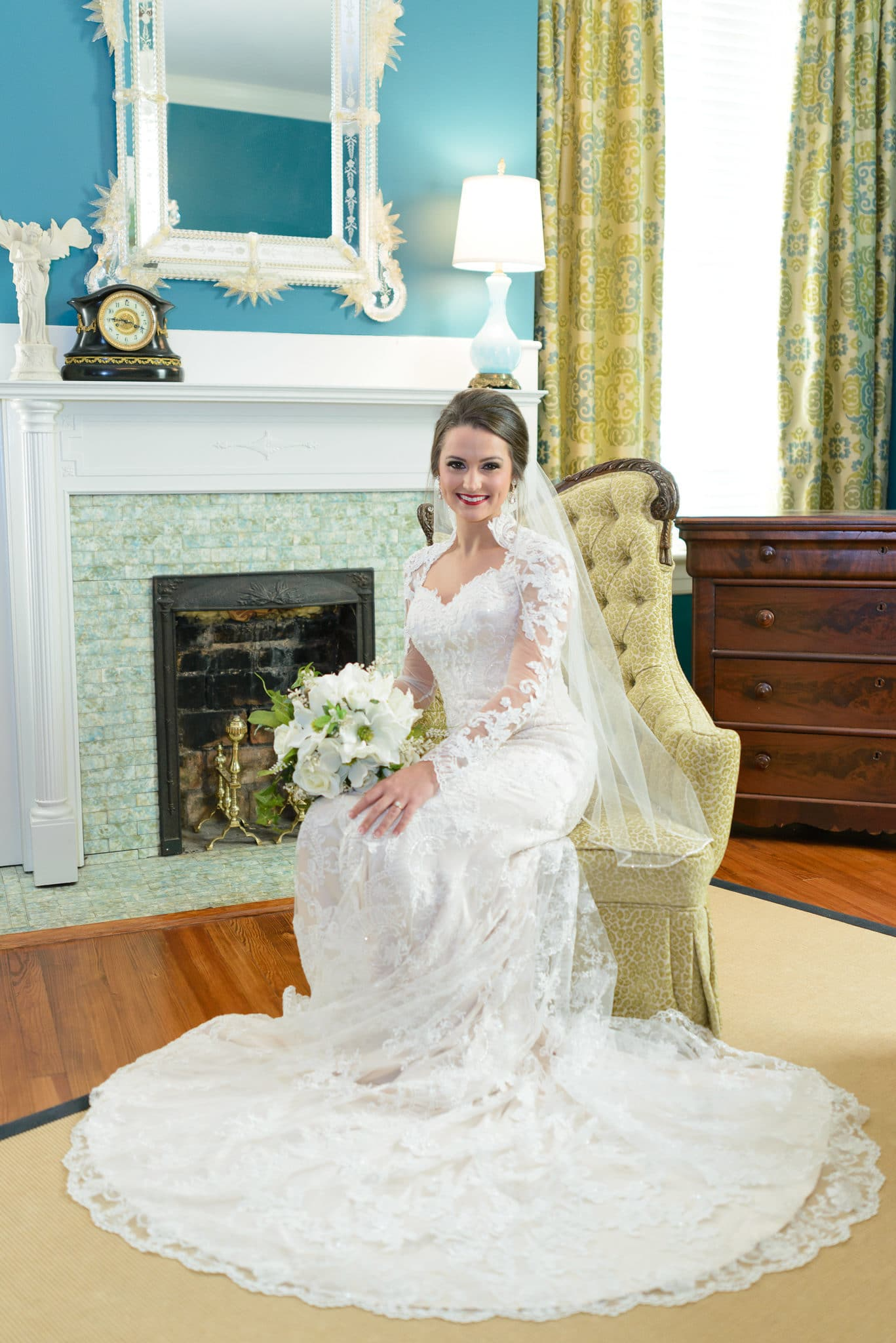 Beautiful bridal portraits at Rosewood Manor in Marion SC