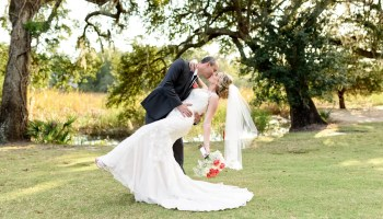 Kiss under the Oak Trees on the golf course 35mm f/2 - Pawleys Plantation