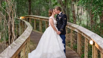 Kiss on a path through the forest - Reserve Harbor Yacht Club