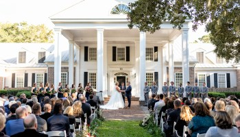 First ever wedding on the front lawn Pawleys Plantation