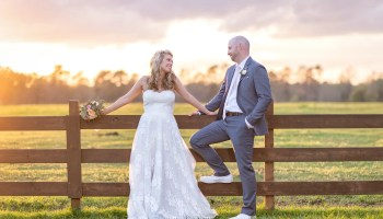 Cute pose with the bride and groom - Wildhorse at Parker Farms