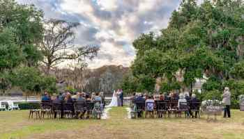 HDR picture of beautiful ceremony location on the Wacammaw River - Kimbel's - Wachesaw Plantation