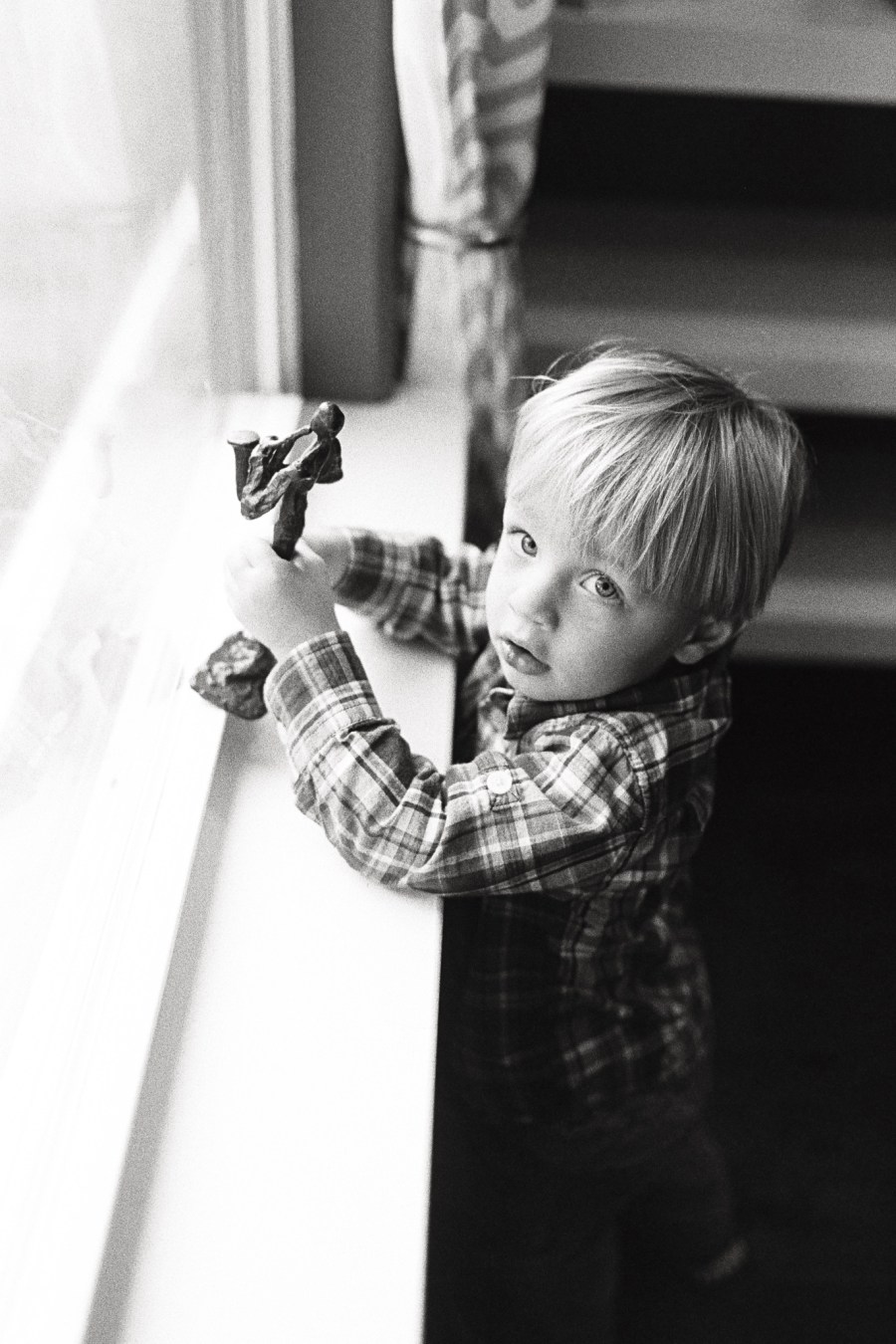 Boy by window