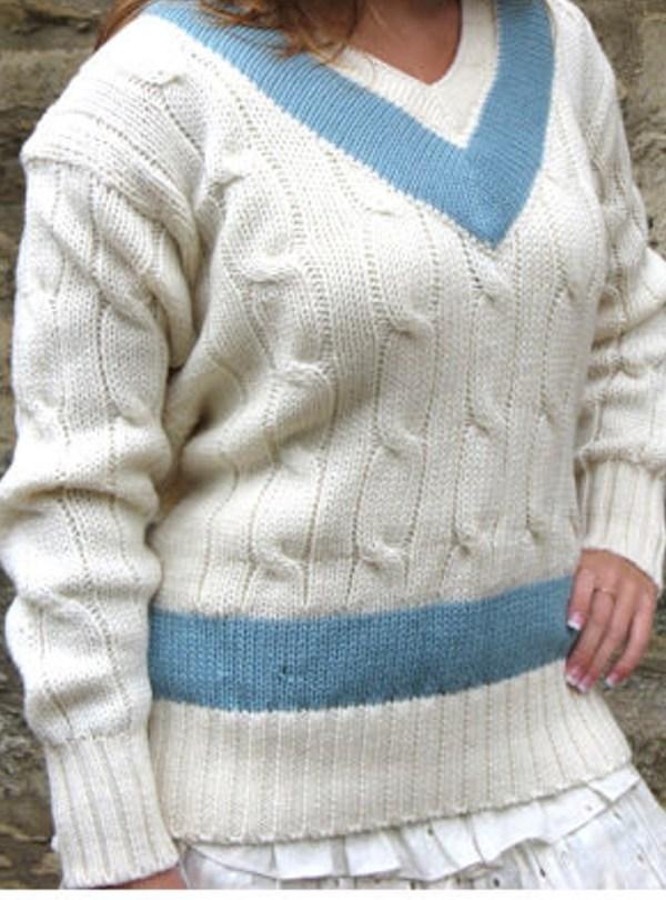 Cambridge Blue Cricket Sweater - Ryder & Amies