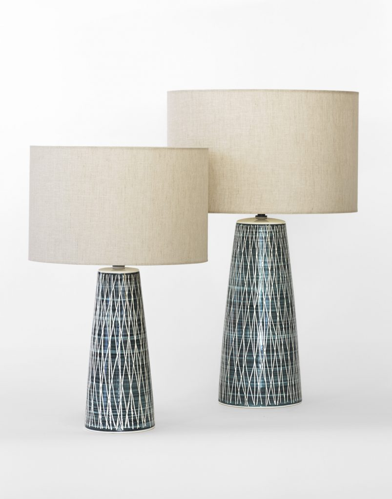 Rye Pottery The Lb1 Table Lamp Black Tracery