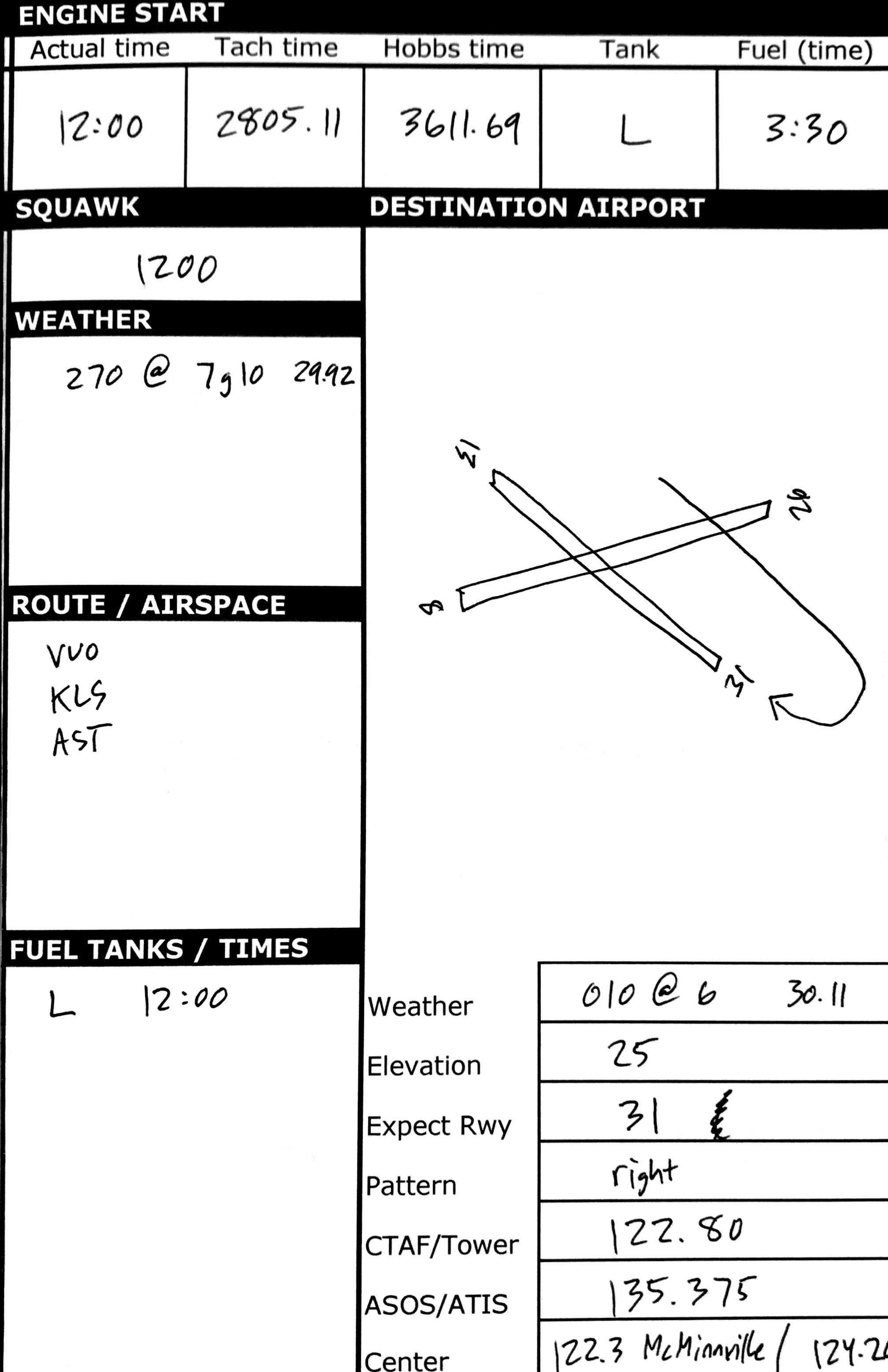 Free VFR Kneeboard Flight Planner | Ryan Harvey