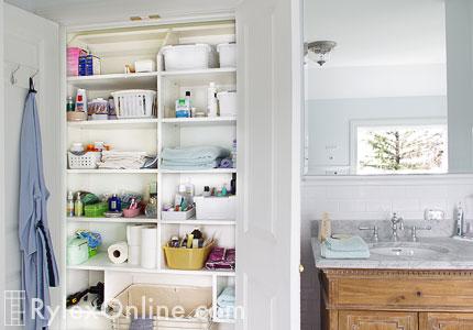 Bathroom Linen Closet Adjustable Shelves Highland Mills Ny