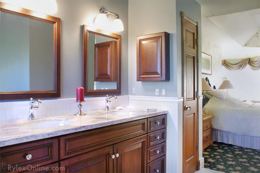 kitchen pantry drawer systems tops master bath vanity   custom trimmed mirror warwick, ny ...