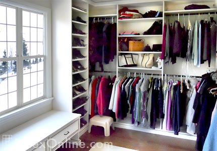 White Walkin Bedroom Closet  Closet Hutch  Warwick NY