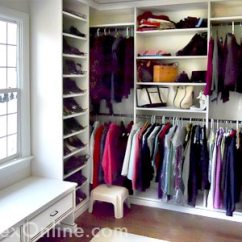 Kitchen Base Cabinet Inside Organizers White Walk-in Bedroom Closet | Warwick, Ny And Beyond ...