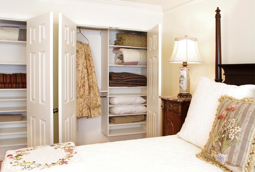 Guest Bedroom Closet  Adjustable Shelves  Campbell Hall