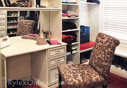 Bedroom Closet with Vanity Table  Closet Hutch  Warwick NY