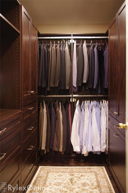 Mens Walkin Closet  Warwick NY  Rylex Custom