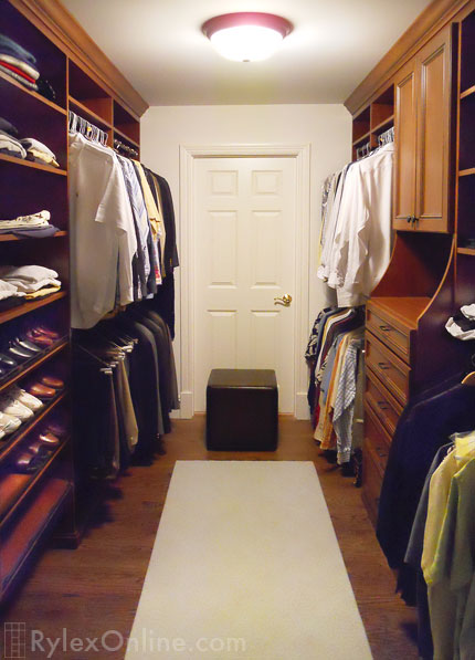 Mens Walkin Bedroom Closet  Closet Hutch  Open Shelves