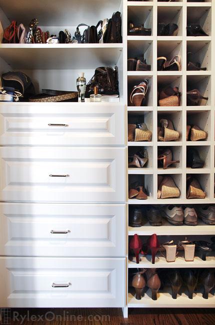 Shoe Shelves Shoe Cubbies Warwick NY Rylex Custom Cabinetry Amp Closets