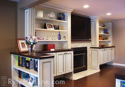 Fireplace Surround  Rockland County NY  Rylex Custom Cabinetry  Closets
