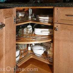 Kitchen Lazy Susan Replacement Shelves For Cabinets Hudson Valley Ny Corner Cabinet Chef Sidelines Three Quarter Round