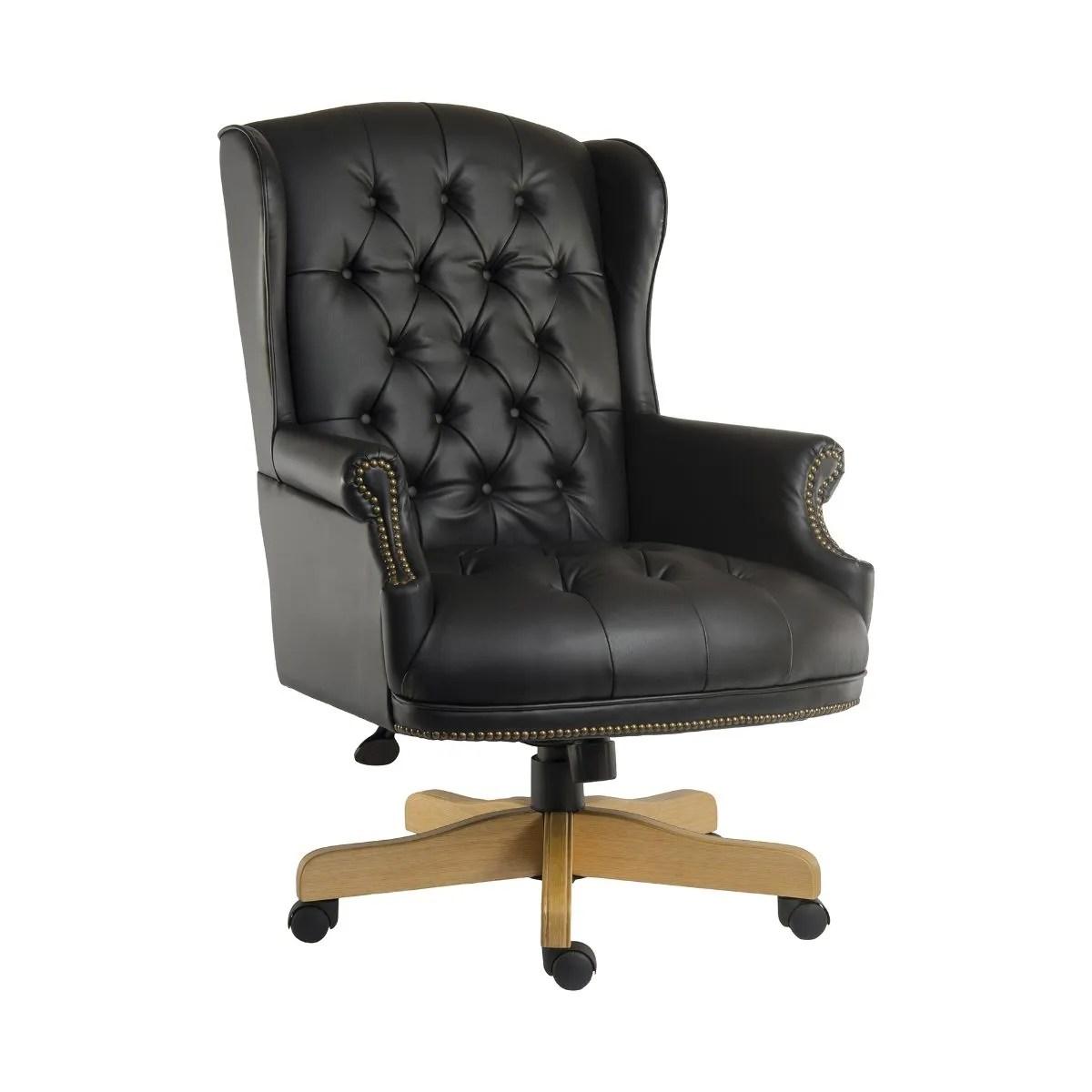 swivel chair executive cheap spandex folding covers for sale ryman chairman office black