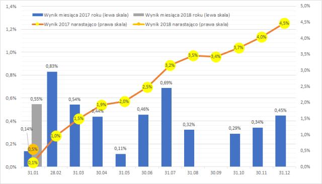 Wyniki portfela w 2017 i 2018 roku